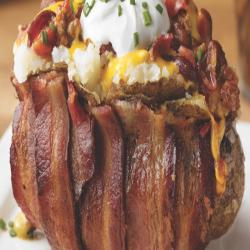 Bacon Wrapped Baked Potato